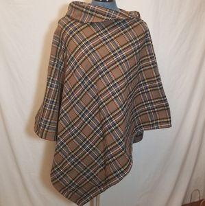 Flannel Poncho with Hidden Pocket